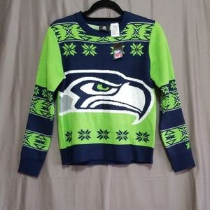 New! Seattle Seahawks Ugly Christmas Sweater